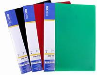 Папка з притиском пластикова, CLIP B, А4 з карманцем, ECONOMIX