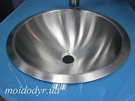 Умывальник врезной 1330 из нержавеющей стали 355 мм х 152 мм х 0,8 мм
