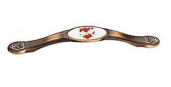 Ручка 128mm SELVI Бронза-Голуби 5414-08/053