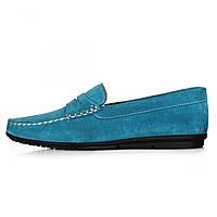 Мокасины женские Geronimo синие замшевые