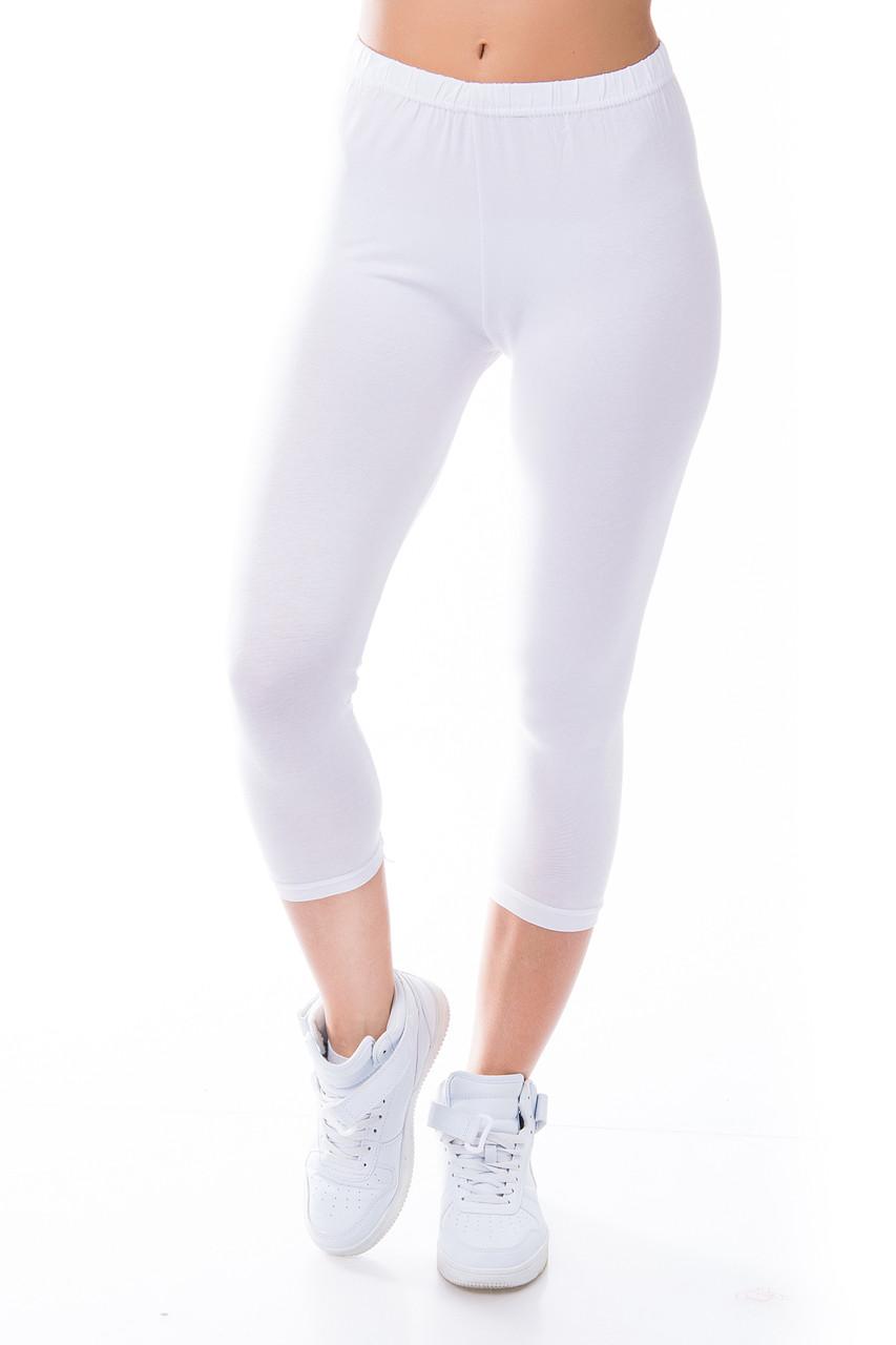 Женские бриджи вискозные белые