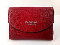 Женский маленький кошелек на кнопке бордовый, фото 1