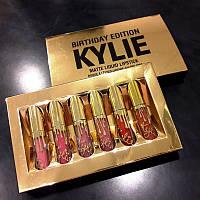 Набор жидких матовых помад Kylie Birthday Edition, 6 цветов