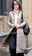 Женское пальто  стеганое на синтепоне с пуговичками серое