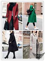 Женское пальто  стеганое на синтепоне с пуговичками черное