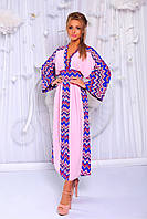 Женское стильное платье-кимоно БМ181
