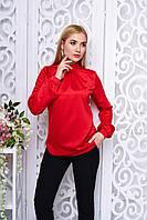 Офисная женская красная блуза Мускат Arizzo 44-52  размеры