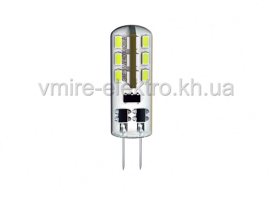 Лампа світлодіодна G4E 1,5 w 3000k 12v Delux