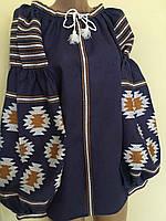 Жіноча вишиванка лляна в стилі Бохо старовинний орнамент , фото 1