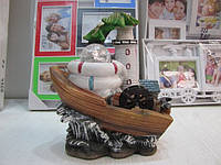 Декоративный водопад лодочка с маяком. Артикул LX-6210
