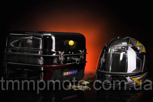 Кофра Дельта железная чёрная с шлемом, фото 2