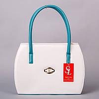 Ультрамодная женская сумка белый/голубой - стиль 2017 art. 1335bw