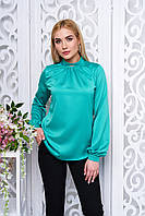 Офисная женская бирюзовая блуза Мускат Arizzo 44-48  размеры