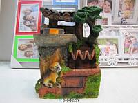 Декоративный фонтан водопад  с собакой. Артикул 2132
