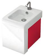 Дизайнерское напольное биде с красным декором  ArtCeram La Fontana Италия