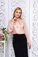 Офисная женская бежевая блуза Мускат Arizzo 44-52  размеры