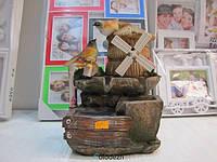 Декоративный водопад фонтан мельница с птицами. Артикул 10215
