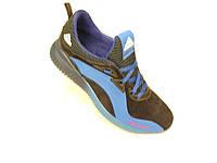 Кожаные мужские кроссовки adidas синий