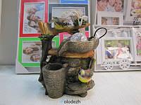 Декоративный фонтан водопад птицы с кувшином. Артикул D-10218
