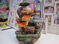 Настольный декоративный фонтан водопад с птицами. Артикул 1503