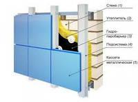 Фасадная кассета 0,7мм навесной вентилируемый фасад(НВФ) Днепр