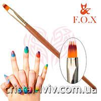 Кисть для омбре дизайна на ногтях FOX в тубусе