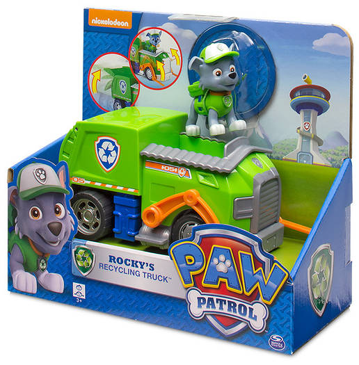 Nickelodeon Paw Patrol Щенячий патруль Роки и мусоровоз Rocky's Recycling Truck