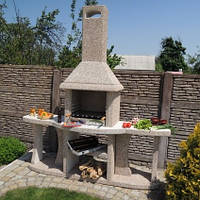 Камин барбекю «Каир» с двумя столами