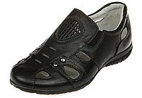 Летние школьные туфли для мальчиков р.31-38 с кожаной ортопедической стелькой, отличны и для сменной обуви