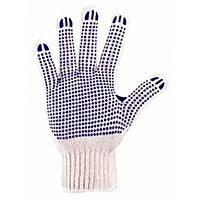 Перчатки Белые с точкой ПВХ (526)