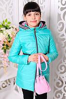 Детская куртка демисезонная подростковая на девочку с сумочкой Размеры 32- 38