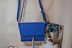 Синяя женская сумка, фото 4