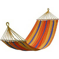 Бразильский тканевый гамак с перекладеной 200*80, разноцветный гамак для сада KingCamp Canvas Hammock KG3712