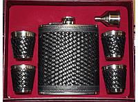 Стильный набор для мужчин фляга стопки NF4-10, подарочный набор фляга, набор фляга стопки в коробке