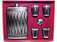 Оригинальный набор для мужчины NF4-26, подарочная фляга с рюмками, набор фляга стопки в коробке