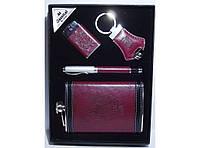 Набор фляга + ручка + зажигалка + брелок NFEE282, подарочный набор для мужчины, подарочная фляга