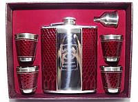 Набор с флягой F5-82, подарочный набор для мужчины, фляга стопки в коробке, фляга для алкоголя