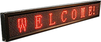 Бегущая строка с красными диодами 100*20 R водонепроницаемая, светящаяся информационная LED-доска