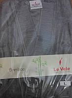 Халат Le vele бамбуковое волокно антрацит Турция