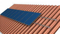 Система крепления на 1 солнечную панель для наклонной крыши, фото 1