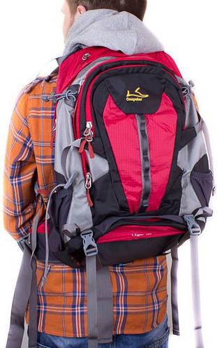 Туристический функциональный рюкзак 33 л. Onepolar W1597-red красный