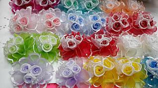 Бант для волос детский/Мин.заказ 12шт/в уп.24шт/разноцветный