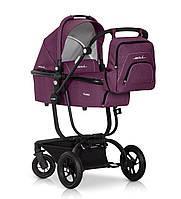 Детская универсальная коляска 2 в 1 SOUL purple - EasyGO Польша люлька + прогулочный блок