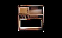 Надставка на компьютерный стол с полочками и удобным шкавчиком 110х41х110см Престиж