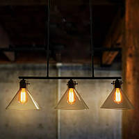 Светильник потолочный подвес Loft [ Glass watering can ] ( 2 - 3 Lamp )