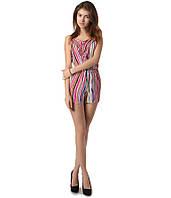 Комбинезон с шортами женский в розовую полоску