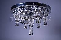 Хрустальная люстра с LED подсветкой на пульте управления P5-E0984/8/CH+BR