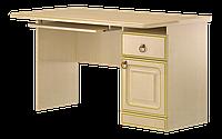 Стол компьютерный, письменный, с тремя выдвижными ящиками и полочкой под клавиатуру разм 76х67х120см Флоренция