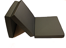 Матрас раскладной 70*195 см, раскладушка, пуф кровать графит