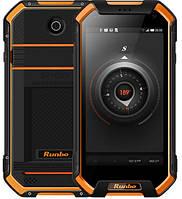"Защищенный смартфон Runbo F1 black-orange оранжевый IP68 (2SIM) 5"" 3/32GB 5/13Мп 3G 4G оригинал Гарантия!"